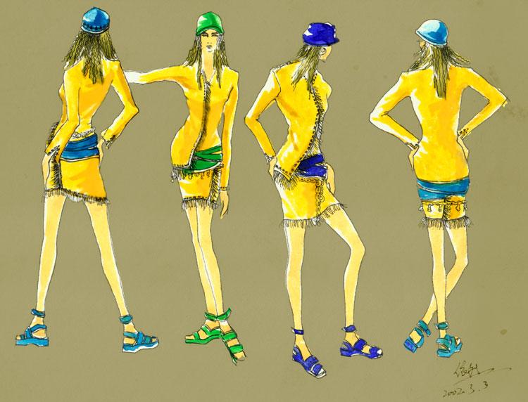 新年来到----------自学时装画简单过程 - abbs 论坛