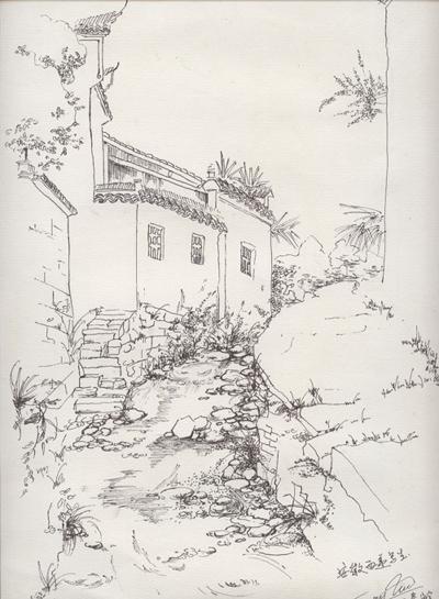 我在安徽宏村的写生作品(部分),pp
