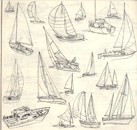 简单小船简笔步骤图