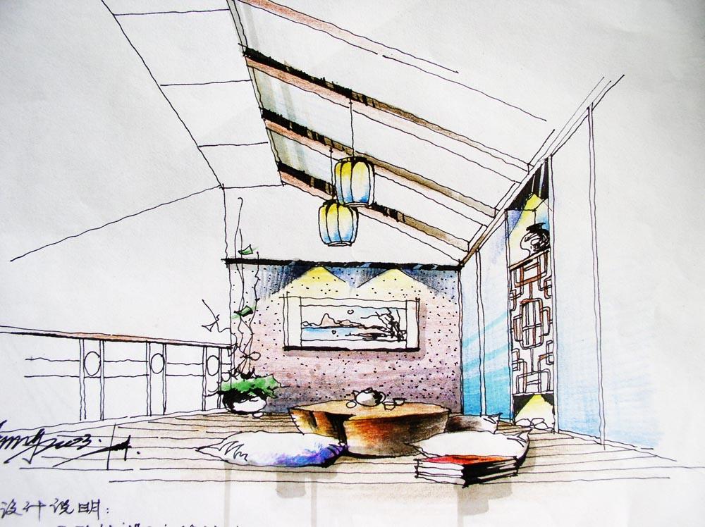 re:本人在英国室内设计公司的手绘作品 [精华]