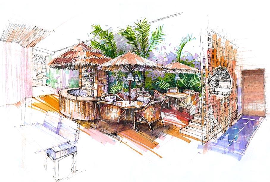 家居手绘设计图