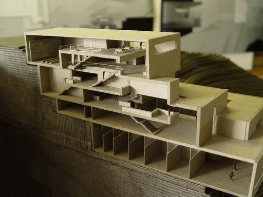 坡地建筑,模型