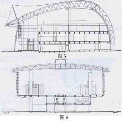 连接楼剖面图见图5